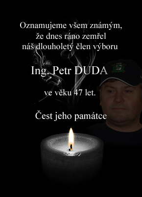 Smutn� ozn�men� - zem�el Ing. Petr Duda